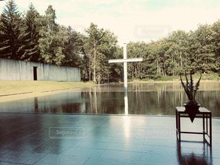 風景,空,水面,十字架,教会,フィルム,フィルム写真,フィルムフォト