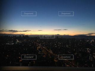 屋外,大阪,夕焼け,景色,地上50階