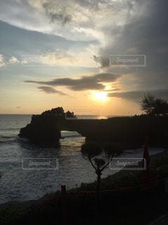 自然,空,夕日,屋外,雲,夕焼け,バリ島,眺め,タナロット寺院