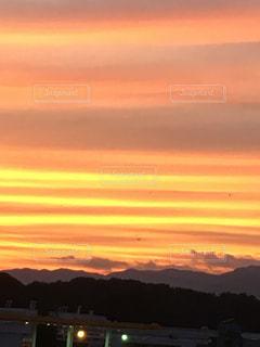 風景,空,屋外,太陽,雲,夕暮れ,オレンジ