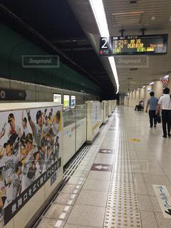 地下鉄構内の写真・画像素材[1396515]