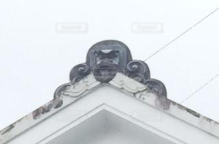 屋根上にクローズアップの写真・画像素材[2121333]