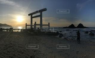風景,海,夕日,夫婦岩,福岡,インスタ映え