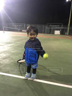 初めてのテニスの写真・画像素材[1292713]