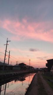 空,秋,夕焼け,夕暮れ,徳島県,秋空