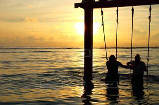 海,空,夕日,絶景,サンセット
