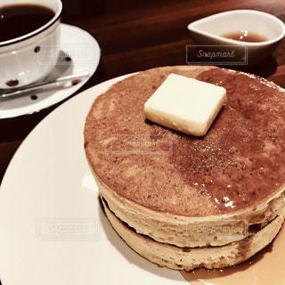 カフェ,パンケーキ,茶色,ホットケーキ,こげ茶,ミルクティー色