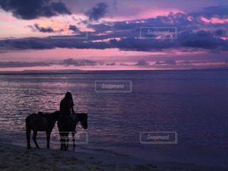 海,夕日,ビーチ,島,馬,sunset,サンセット,バリ島,インドネシア,ギリ島