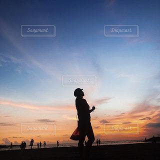 空,夕日,海外,ビーチ,島,女の子,sunset,サンセット,バリ島,インドネシア