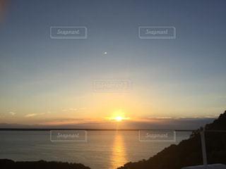 海,夕日,沈む,海岸線
