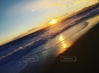 海,夕日,夕陽,日の入り