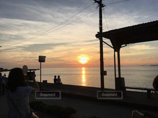 自然,空,夕日,絶景,海岸,景色,夕焼