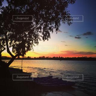 海,空,夕日,海外,夕暮れ,マレーシア,リゾート