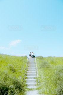 緑の野原の人の写真・画像素材[2301996]