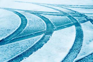 雪に覆われた斜面のクローズアップの写真・画像素材[2809028]