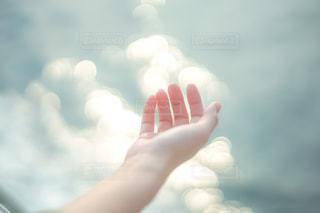 女性,風景,海,手,手のひら,人物,人