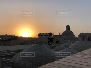 空,夕日,夕焼け,イスラム,異国,ウズベキスタン,異世界,バザール,ムスリム,ブハラ