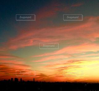 空,夕日,夕焼け,夕景,彩雲