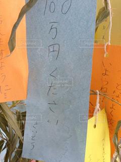 妙に現実的な七夕の願い事の写真・画像素材[1286988]
