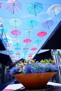 名古屋・星ヶ丘のカラフルな傘の屋根の写真・画像素材[2236470]