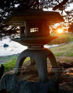 空,屋外,湖,太陽,光,草,樹木,日陰,草木,灯籠
