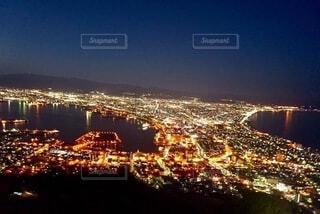 空,夜,夜景,夜空,景色,ライトアップ,旅行,函館