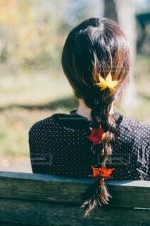 もみじの縛り髪の写真・画像素材[3713809]