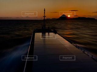 夕日,瀬戸内,内航船