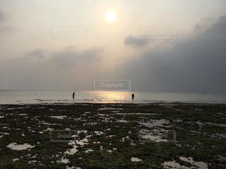 海,空,太陽,ビーチ,夕焼け,夕暮れ,沖縄,景観