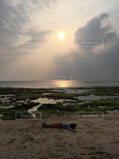 自然,海,空,太陽,ビーチ,夕焼け,夕暮れ,沖縄,想い出,景観