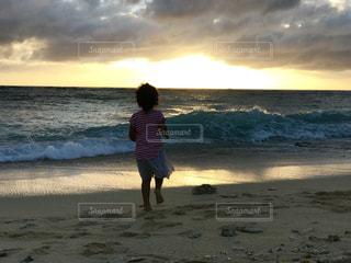自然,海,空,太陽,ビーチ,夕焼け,夕暮れ,沖縄,想い出