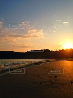 海,夕日,夕焼け,夕暮れ,黄昏,夏空,オーシャンビュー,宮城県大島