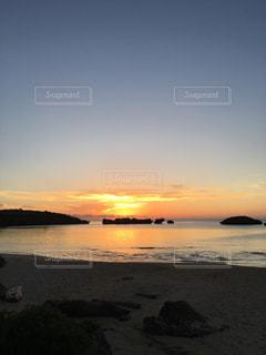 海,夕日,夕陽