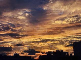 自然,空,夕日,夕暮れ,沖縄,オレンジ色