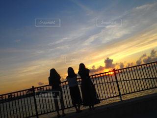 海,夏,夕日,海岸,沖縄,夏休み,sunset,友達