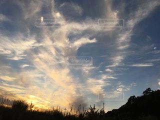 空,夕日,雲,夕暮れ,景色,四国の空