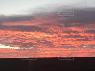 空,夕日,雲,夕方
