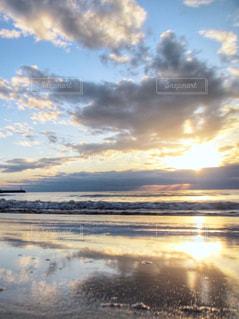 自然,風景,海,空,屋外,太陽,ビーチ,雲,夕暮れ,海辺,水面,海岸,光,リフレクション,レジャー,クラウド