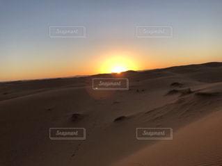 空,夕日,砂漠,モロッコ