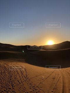 空,夕日,モロッコ