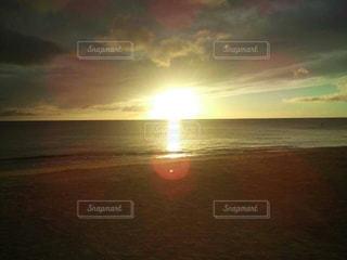 自然,海,太陽,雲,砂浜,水平線,夕陽