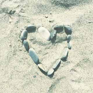 屋外,砂,ビーチ,かわいい,砂浜,アート,ハート,地面,石,マーク,海底