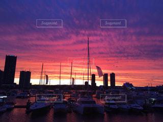 空,夕日,絶景,オーストラリア,たそがれ,グラデーション,サーファーズパラダイス,夕日が綺麗