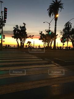 風景,海,空,夕日,屋外,ビーチ,綺麗,夕暮れ,道,ロサンゼルス,ベニスビーチ