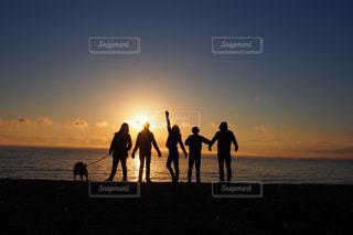 家族,空,夕日,きれい,鹿児島