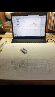 インテリア,パソコン,書類,PC,建築,紙,課題,手描き,パース,製図,図面,データ,平面図