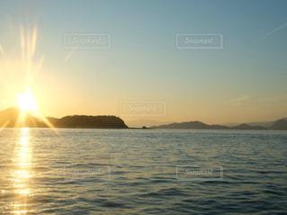 風景,海,空,夕日,夕方,景色,岡山
