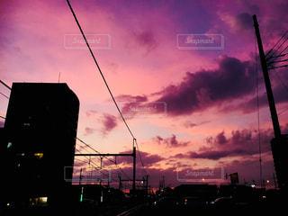 風景,空,夕日,雲,夕焼け,埼玉県