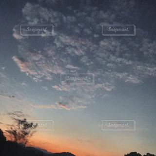空,夕日,雲,景色