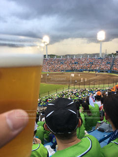 夏,ビール,野球,応援